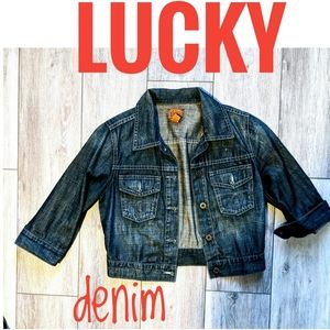 Lucky brand dungaree denim jacket S